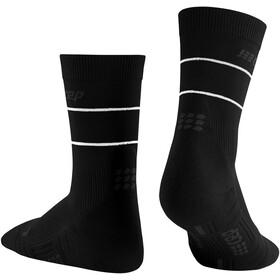 cep Reflective Mid Cut Socks Women, black